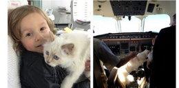 Kotka Lagerfelda pilotuje samolot!