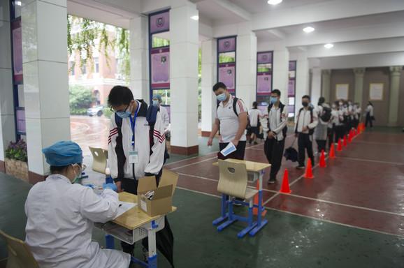 Testiranje učenika u Vuhanu