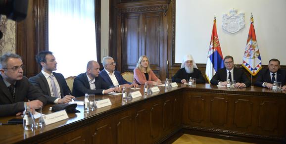 Aleksandar Vučić, Predsedništvo, Predstavnici Srba, Sastanak, Patrijarh Irinej