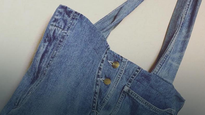 Nowa torba ze starych dżinsów