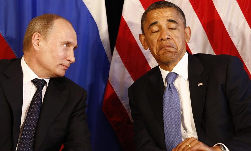 Obama i Putin szczyt G8