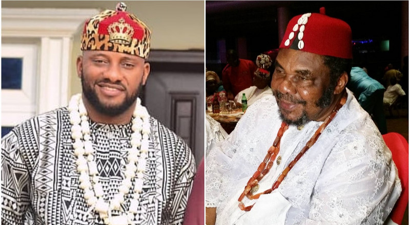 Twitter is wilding out after Yul Edochie recounts time he told his father Pete Edochie he wanted to drop out of school