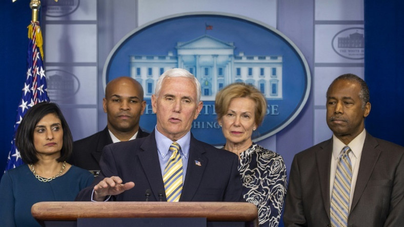 US Vice President Mike Pence told reporters in a White House briefing on March 14, 2020 that a European travel ban would now include the UK and Ireland, and that domestic travel curbs are also being weighed