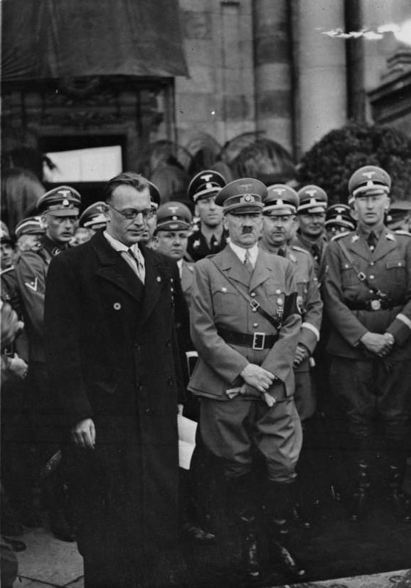 Zajs-Inkvart, Adolf Hitler, Hajnrih Himler, i Hajdrih u Beču, mart 1938.