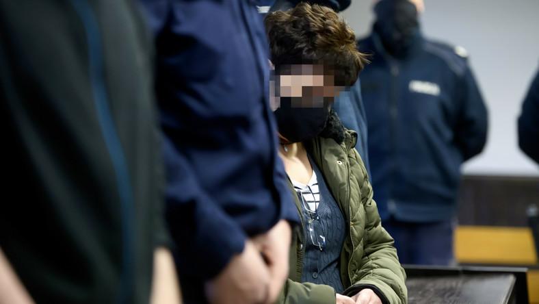 Oskarżona Małgorzata G. na sali rozpraw Sądu Okręgowego w Poznaniu