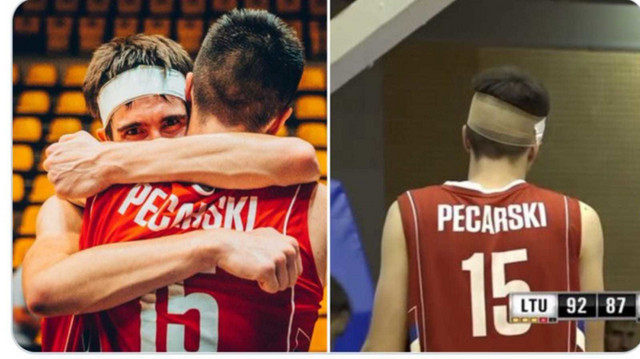 Nikola Mišković je prošle godine na Evrobasketu igrao sa čalmom na glavi, a ove će sa njom nastupati Pecarski