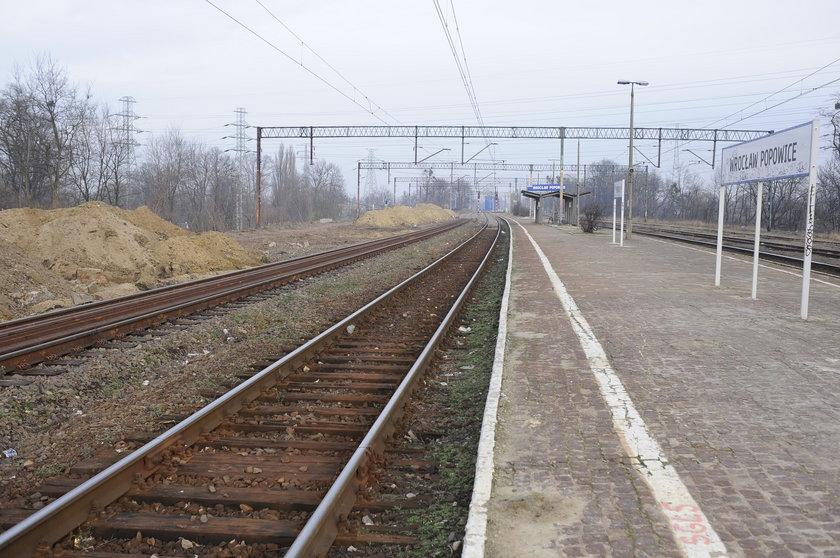 Peron stacji kolejowej Wrocław-Popowice