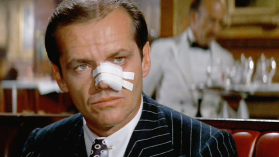 "Jack Nicholson w filmie ""Chinatown"""