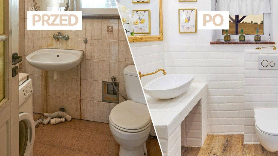 zmieniła oblicze starej łazienki. Powstał tu ptasi raj [ZDJĘCIA PRZED i PO]