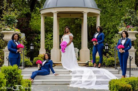 tuxedo bridesmaids