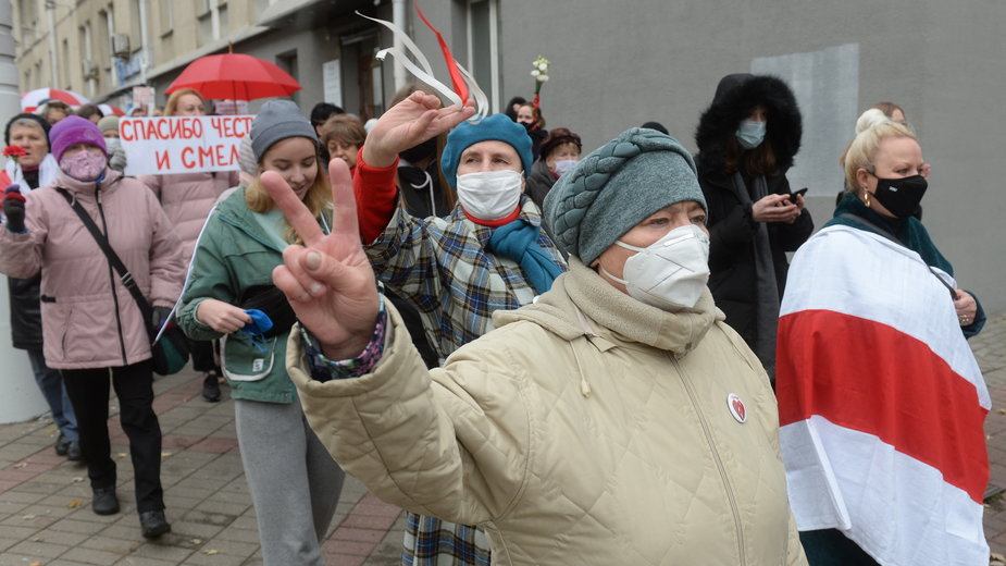 Białoruś. Sobotni protest w Mińsku.