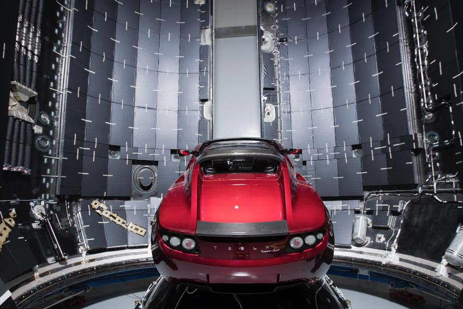 SpaceX Elon Musk Tesla Roadster Falcon Heavy