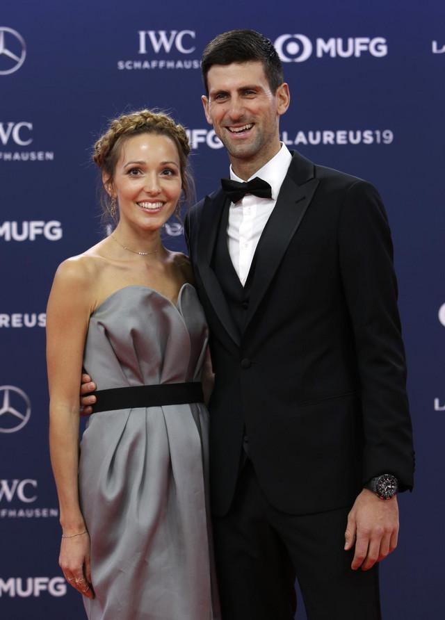 Novak Đoković sa suprugom Jelenom
