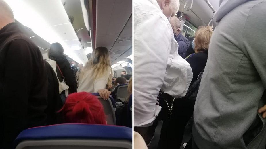 Czytelniczka pokazała, co działo się w samolocie