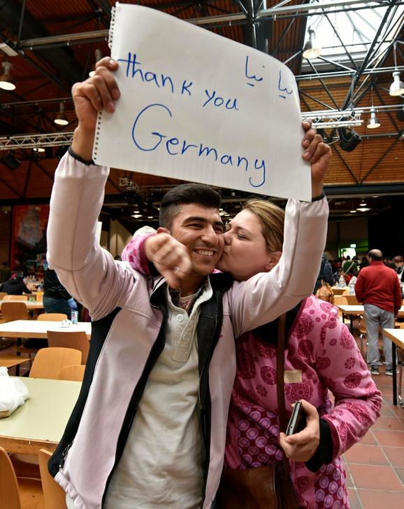 Zahvalne izbeglice po dolasku u Nemačku