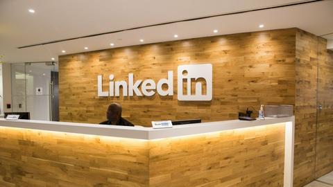 Jedna z recepcji w biurze LinkedIn w Nowym Jorku