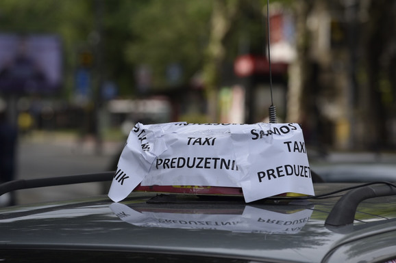 Taksisti protest