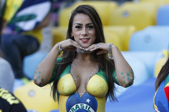 Navijačica Brazila