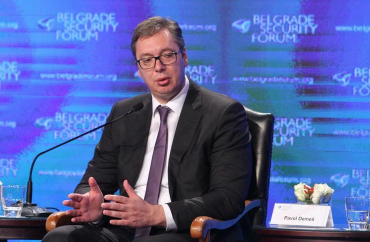 Panel Zapadni Balkan i EU, Aleksandar Vučić, Aleksander Van der Belen, Beogradski bezbednosni forum