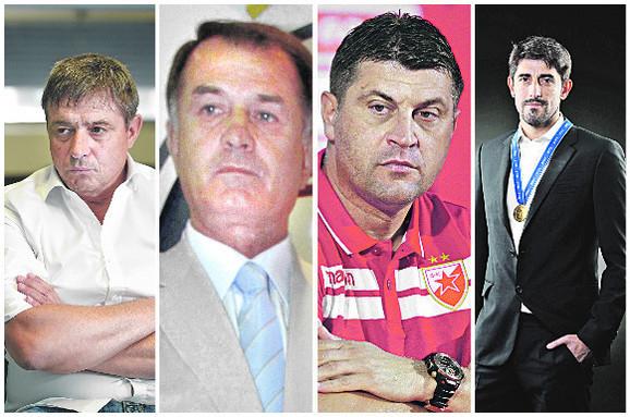 Dragan Stojković, Dušan Bajević, Vladan Milojević, Veljko Paunović