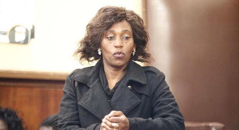 Former Icaciri Girls Secondary School Principal Jane Muthoni