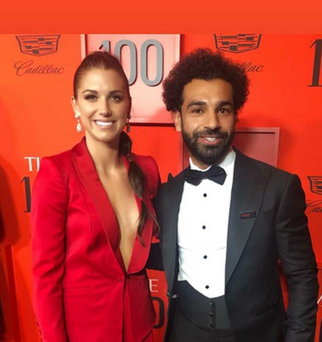 Aleks Morgan i Mohamed Salah na gala večeri