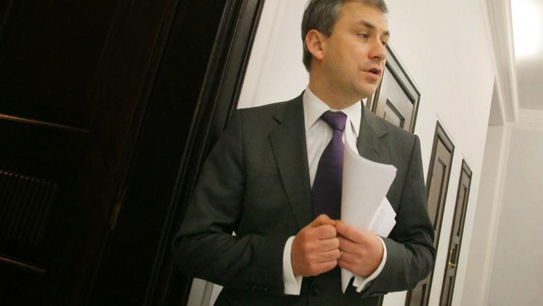 Szef SLD Grzegorz Napieralski