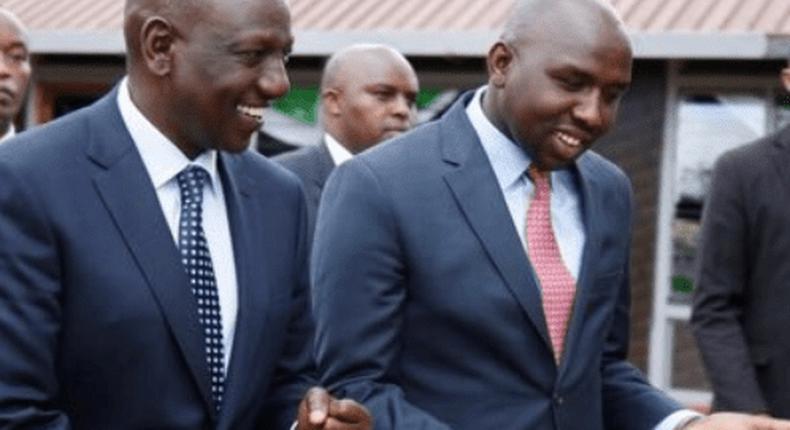 File image of Elgeyo Marakwet Senator Kipchumba Murkomen with DP William Ruto