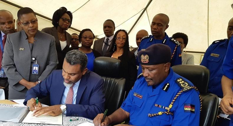 File image of the Director of Public Prosecution Noordin Haji and Inspector General of Police Hillary Mutyambai during a past event