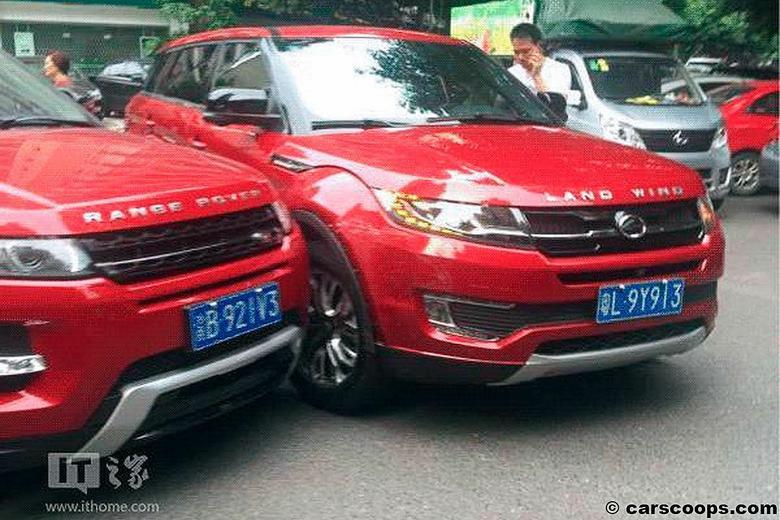 Range Rover Evoque zderzył się z LandWindem X7
