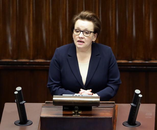 Minister edukacji Anna Zalewska, PAP/Tomasz Gzell