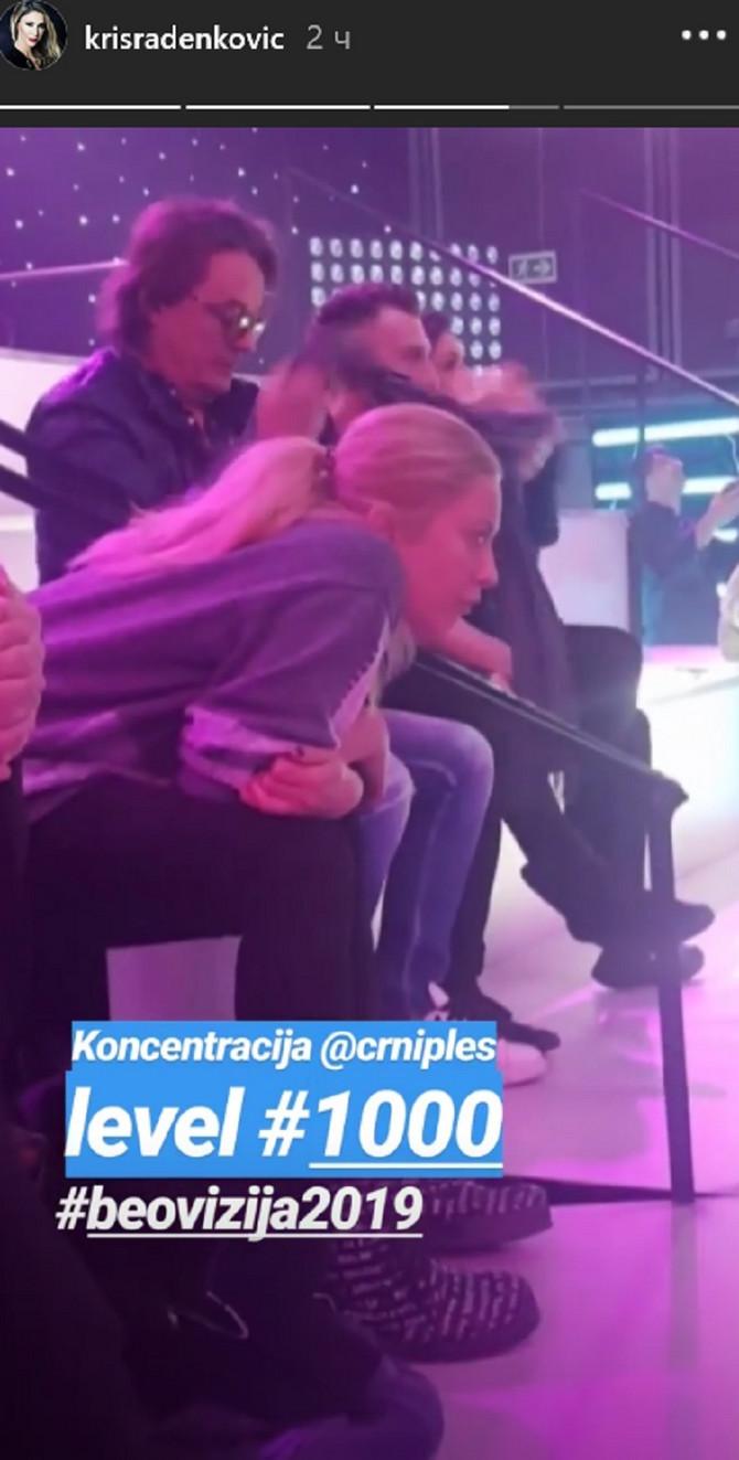 Sanja Ilić na probi