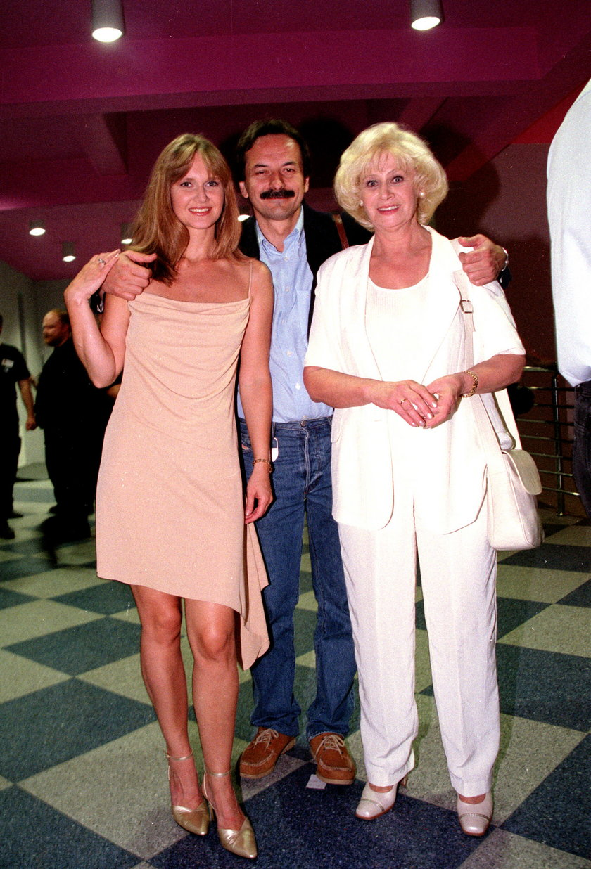 Krystyna Loska z córką i zięciem