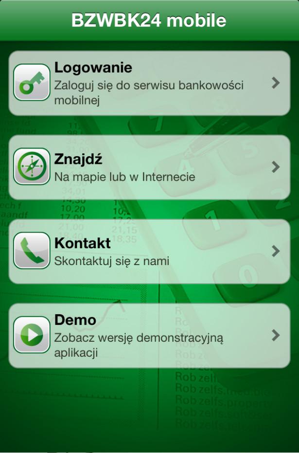 Aplikacja BZ WBK 24 mobile