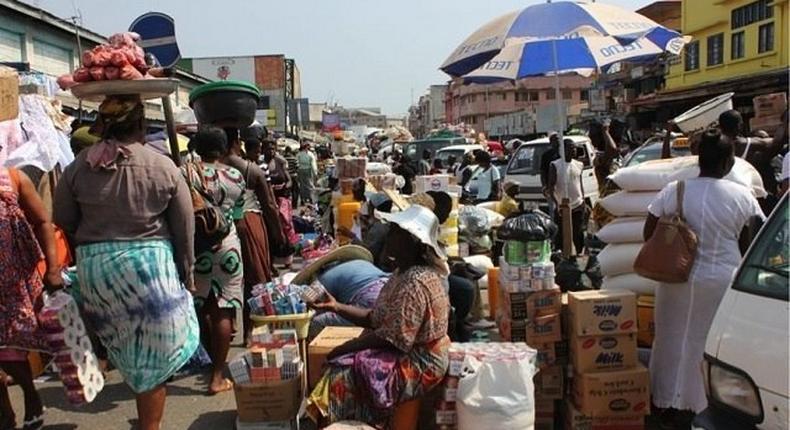 The Adabraka Market in Ghana