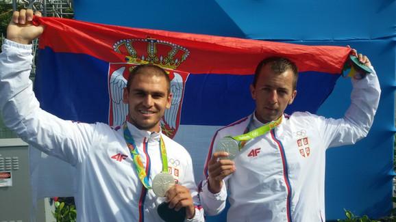 Marko Tomićević i Milenko Zorić sa olimpijskim srebrom