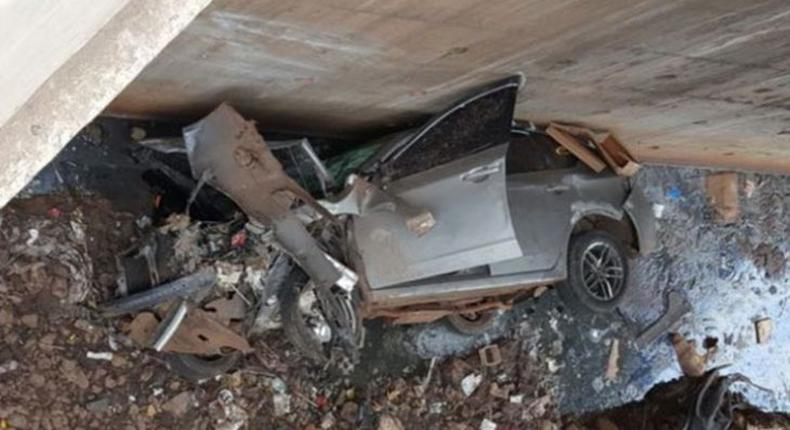 Two rushed to hospital as speeding vehicle plunges into Nairobi River