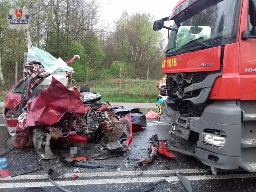 Wypadek pod  Lubartowem