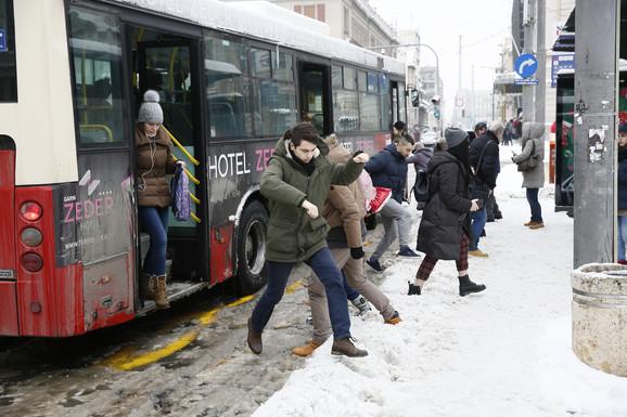 Beograđani željni snega