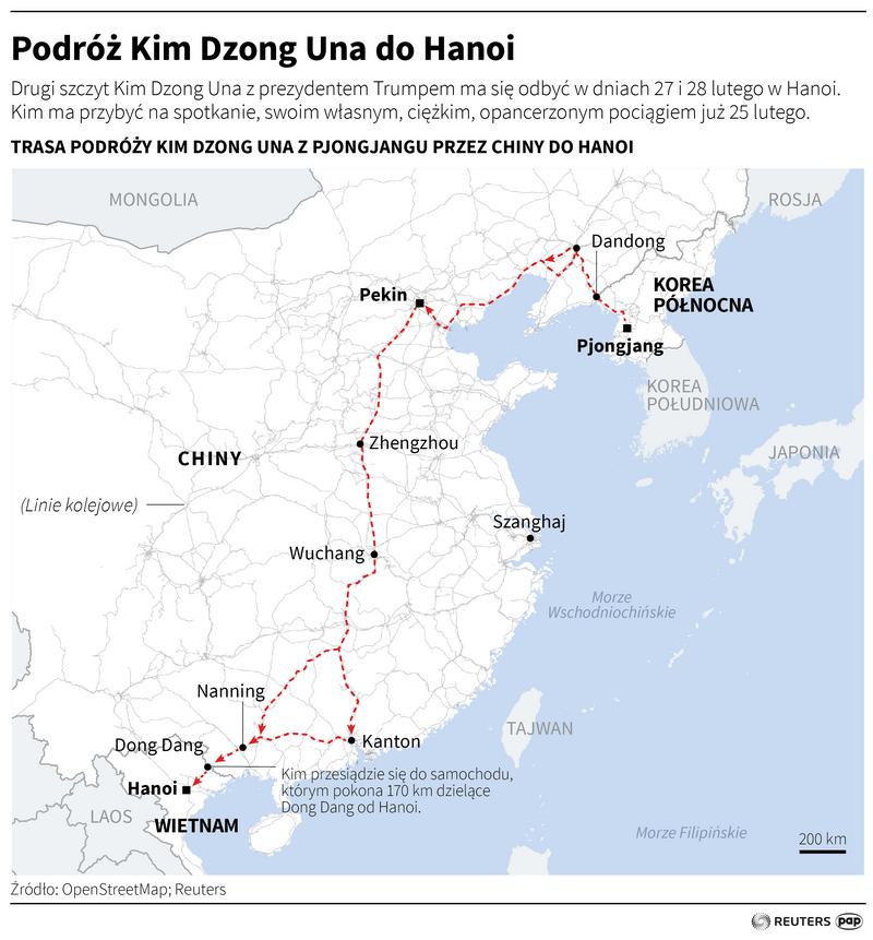 Podróż pociągiem Kim Dzong Una do Hanoi