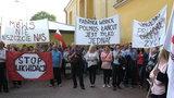 Protest w Łańcucie. Mieszkańcy bronią fabryki