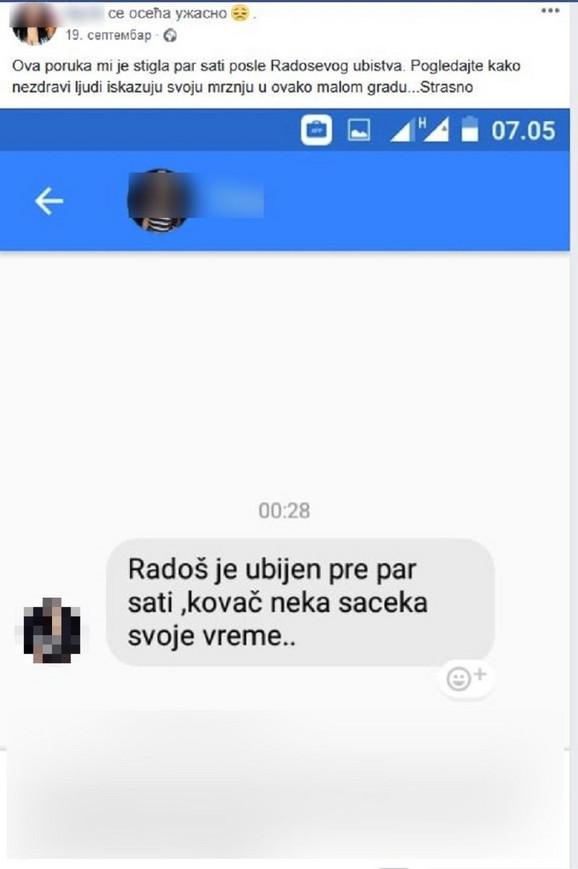 Ivana je na Fejsbuku objavila preteću poruku koju je dobila
