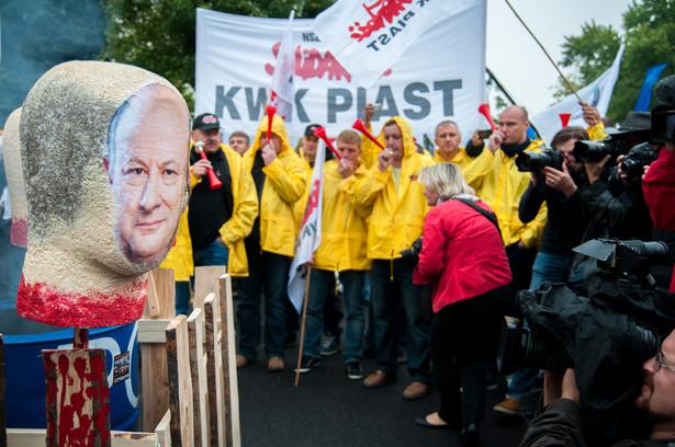 Protest związkowców z Solidarności w Warszawie w 2013 / Fot. Maciek Suchorabski