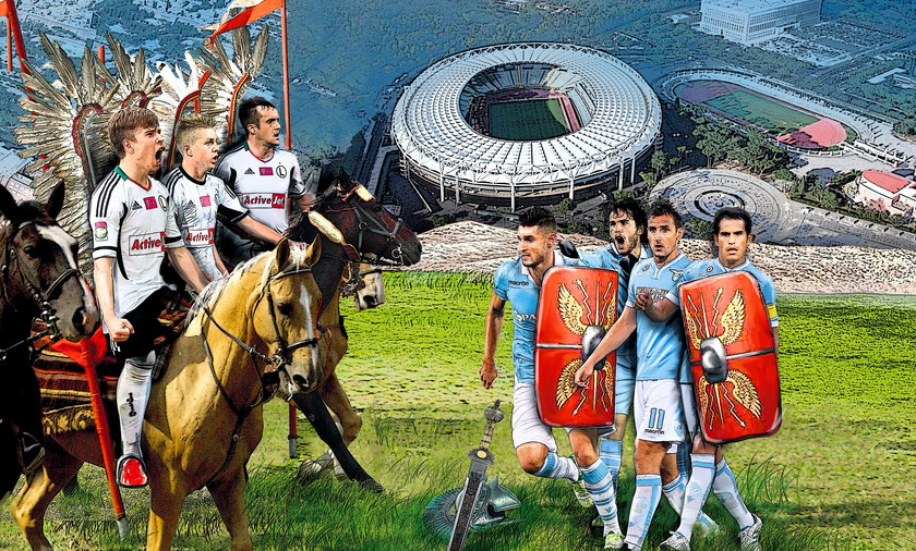 Legia Warszawa, Lazio Rzym, huzaria