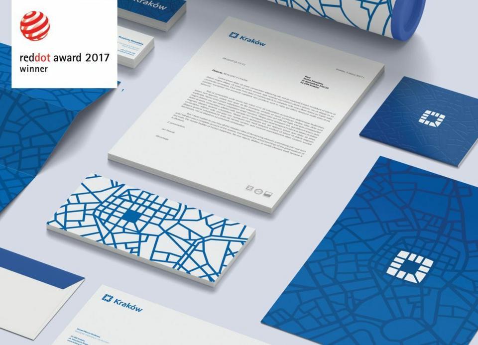 System identyfikacji Krakowa z nagrodą Red Dot: Communication design 2017
