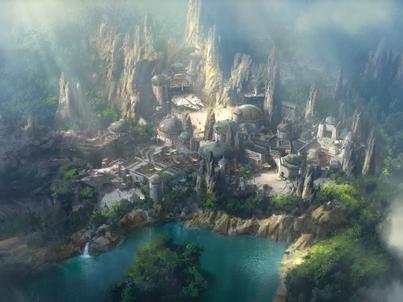 Wizualizacja parku rozrywki Star Wars: Galaxy's Edge