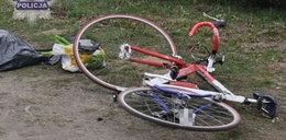 Pies wbiegł pod rower. Zginął mężczyzna