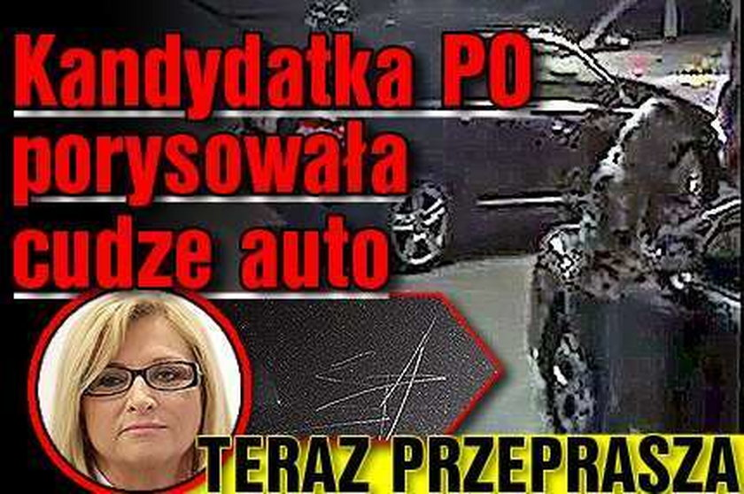 Kandydatka PO porysowała cudze auto. Teraz przeprasza!