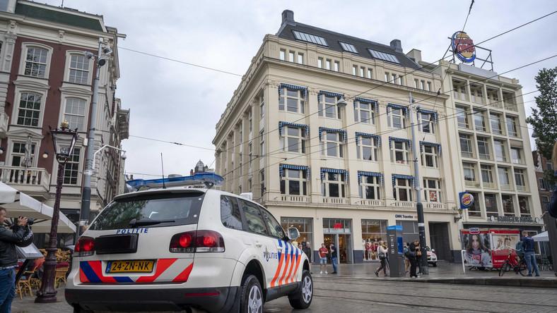 Ewakuacja budynku holenderskiej TV w Amsterdamie