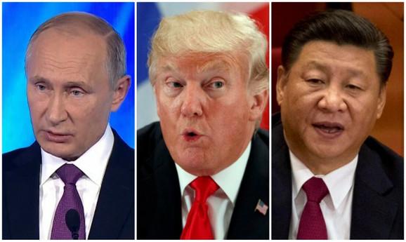 Vladimir Putin, Donald Tramp i Si Đinping